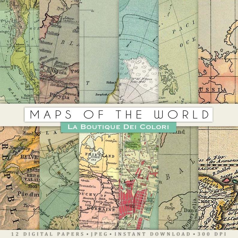 Old maps textures digital paper Vintage background Vintage | Etsy Old Map Background on