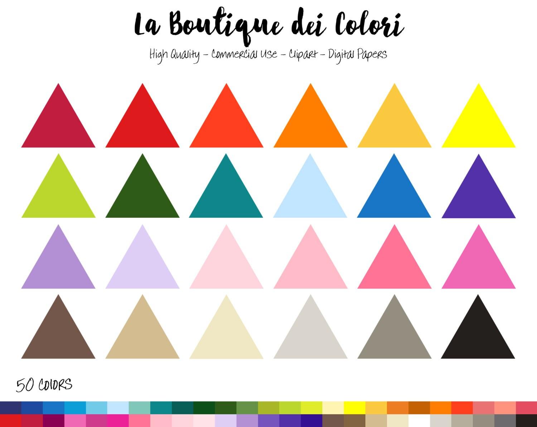 50 Regenbogen Volltonfarbe Dreieck Rahmen ClipArt Banner   Etsy