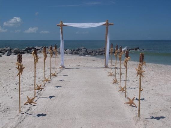 Bamboo wedding arch and aisle way decorating kit etsy image 0 junglespirit Gallery