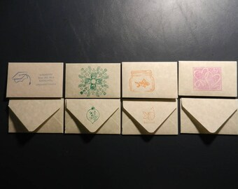 Set of 4 Handmade Gift Card Envelopes