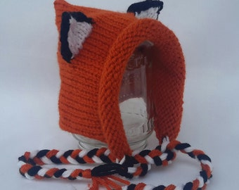 Knitted Baby Fox Hat   Animal Hat  Foxy hat e840df89f562