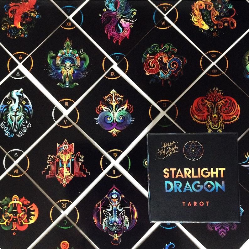 Dragon Tarot Deck  Occult Tarot Cards  Divination Magick  image 0