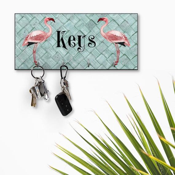 Flamingo on Beach Starfish Retro Purse Bag Hanger Holder Hook