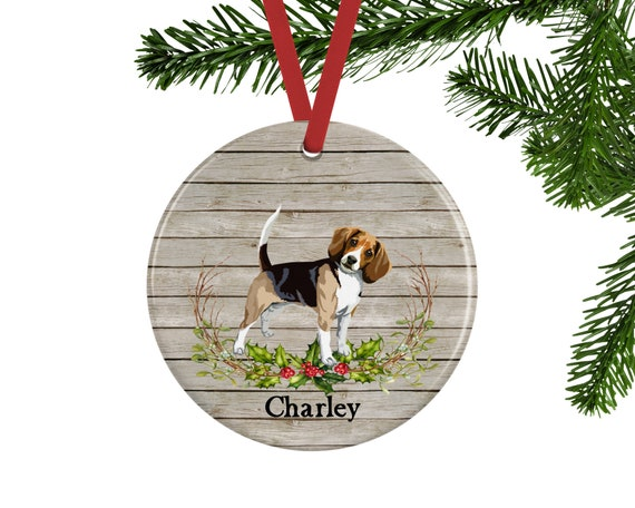 Personalized Beagle Christmas Ornament - Personalized Beagle Christmas Ornament Etsy