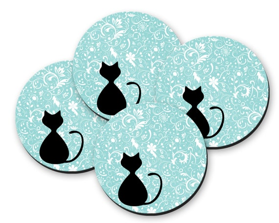 ITS BEEN ONE OF THOSE DAYS FOR 3 YEARS NOW COASTER VINTAGE RETRO DRINKS MAT CAT