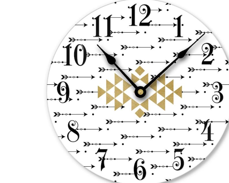 Unique Wall Decor Boho Wall Clock with Arrows