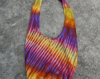 Abstract Hippie Handmade Tie dye Artwork Gypsy Cotton Messenger Shoulder Cross bag