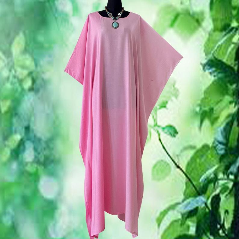 Solid Gradation Hand Dyed Kaftan Caftan Dress