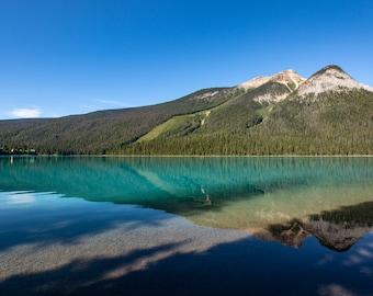 Emerald Lake, Yoho National Park, British Columbia, Canada, canadian national park, lake art, lake decor, lake photo, nature decor