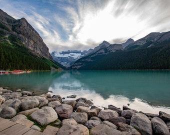 Lake Louise, Banff National Park, Alberta, Canada, canadian national park, lake art, lake photography, lake decor, mountain art