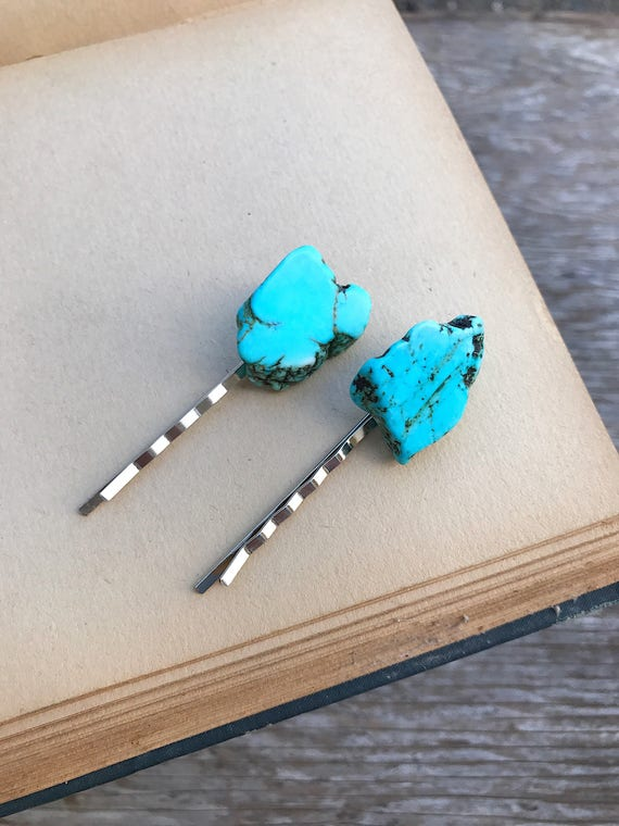 Rose gold boho moon hair pin Opalite crescent moon celestial hair summer bobby pin accessories