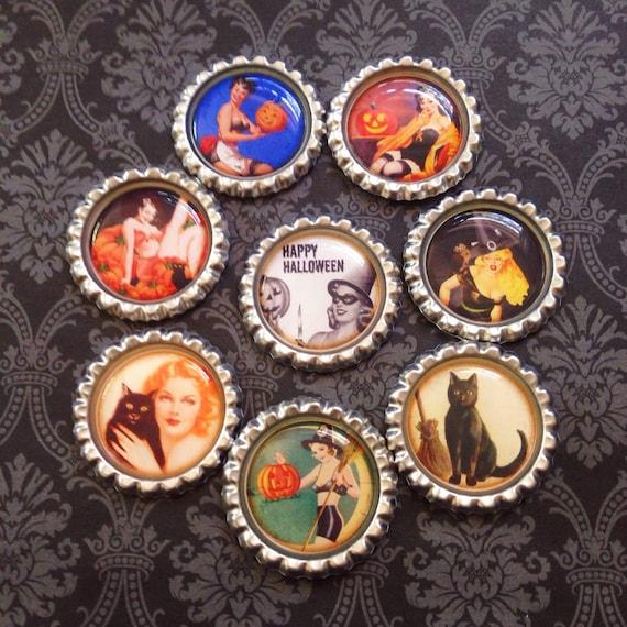 Magnet Set Vintage Pin Up Girls Pin Badge Set