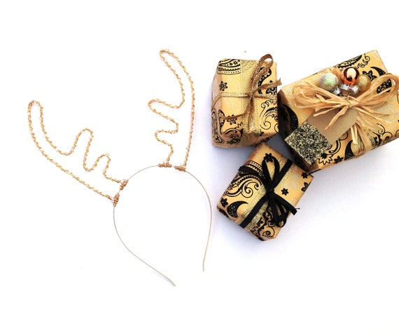 Noël renne antlers aliceband bandeau pour femmes filles