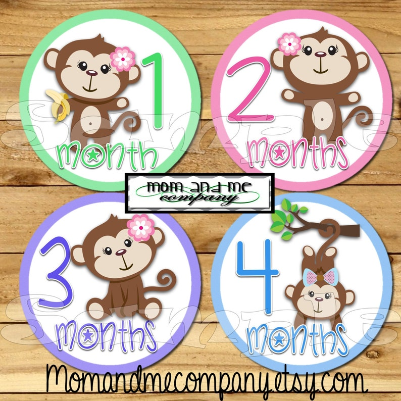 Baby Infant Monthly Mom Weekly Stickers New Born Party Shower 1-12 Months New