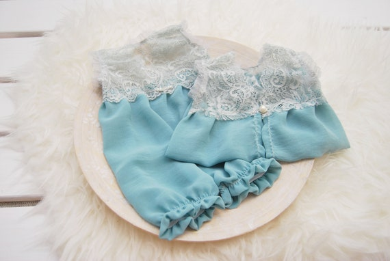 JI/_ Newborn Baby Knit Photography Rompers Clothes Photo Studio Costume Props N