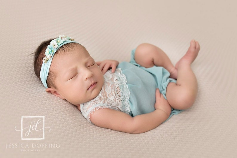 c2b667aaf Lace newborn romper baby girl photo outfit open back romper | Etsy