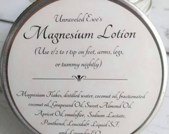 Magnesium Lotion |2 oz| 4 oz | Lavender | Magnesium Cream | Sore Muscles and Joints | Relaxing