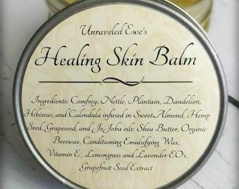 Healing Skin Balm | Moisturizing Balm | Comfrey | Nettle | Plantain | Dandelion | Hibiscus | Calendula
