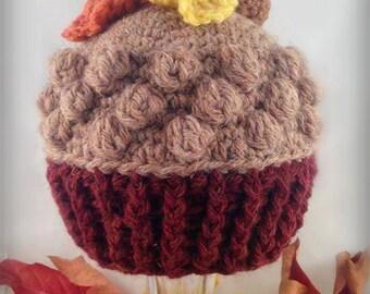 Crochet Wee Acorn Beanie Pattern ~ Newborn