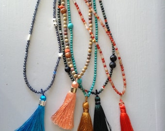 Saltire in gemstones and silk tassel