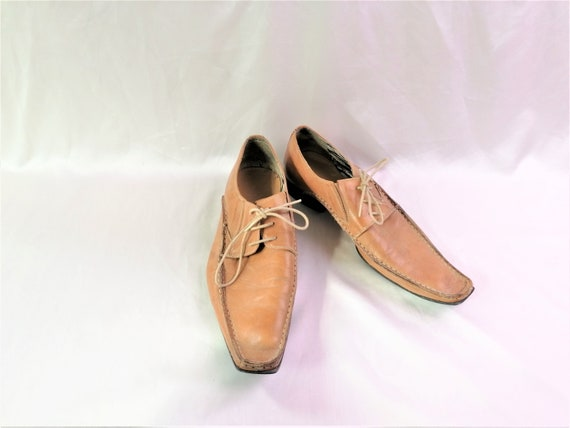 Vintage Tamaris Men/'s Costume Shoes Camel Beige Genuine Leather classic shoes on laces Wingtip Shoes Size EU 40 Luxury tan Shoes Rare