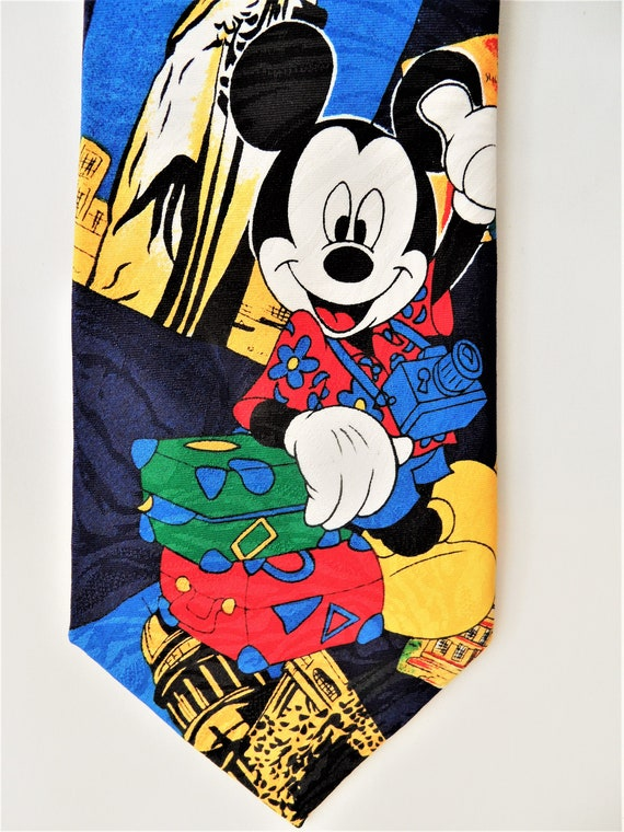 Mickey Mouse Tie Vintage Mickey Mouse Neck Tie Vintage Disney Mickey Mouse Blue /& Red Paisley Neck Tie Disney Tie Vintage Disney Necktie