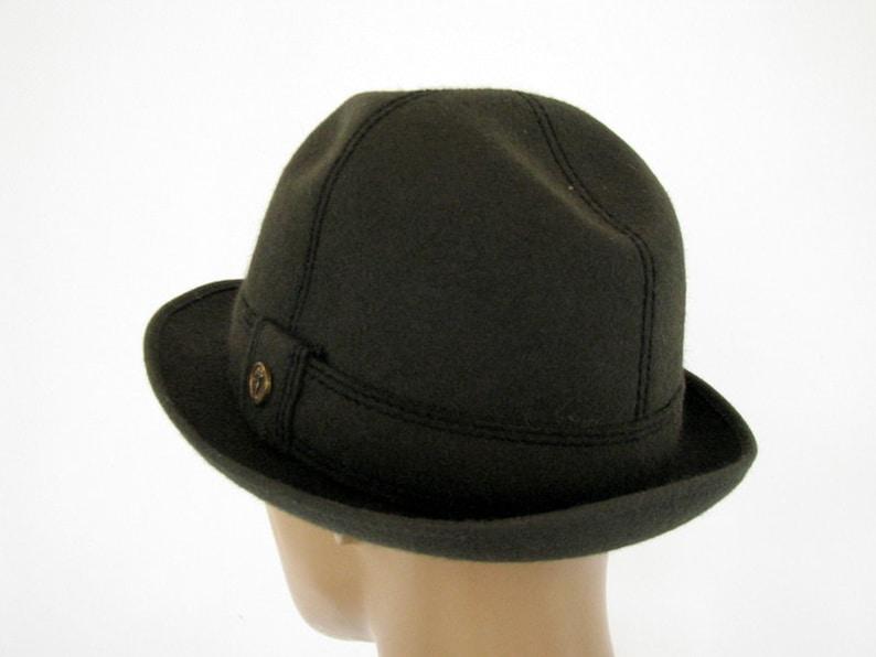7aa58e04602ff Vintage Fedora Hat Moss green felt hat Vintage trilby hat Fur