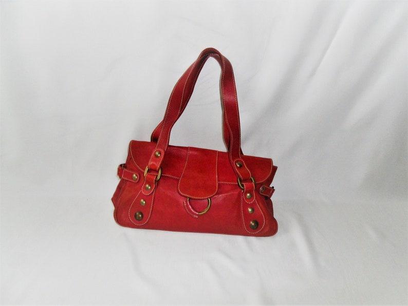 3110464fd6 Vera Pelle HOBB Rosa genuine leather handbag real Italian