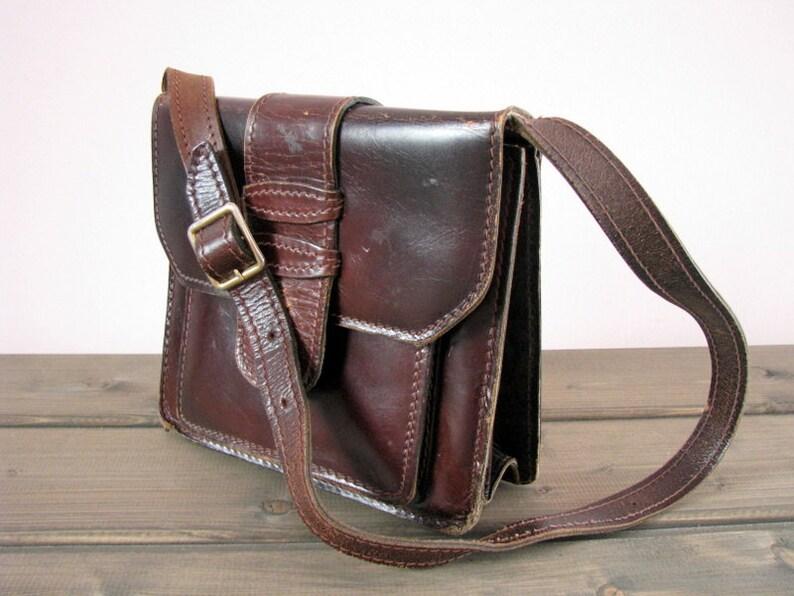 d5f5b18fbbf56 Hiszpański ARYMA Brown skórzana torebka shabby teczki brązowy