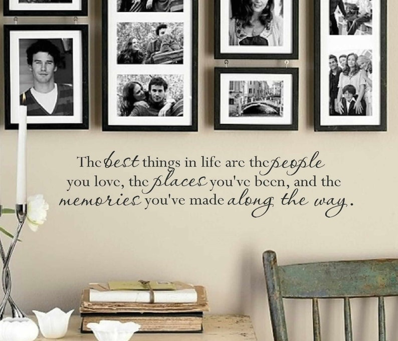 the best things in life wall decal wall vinyls decals art   etsy