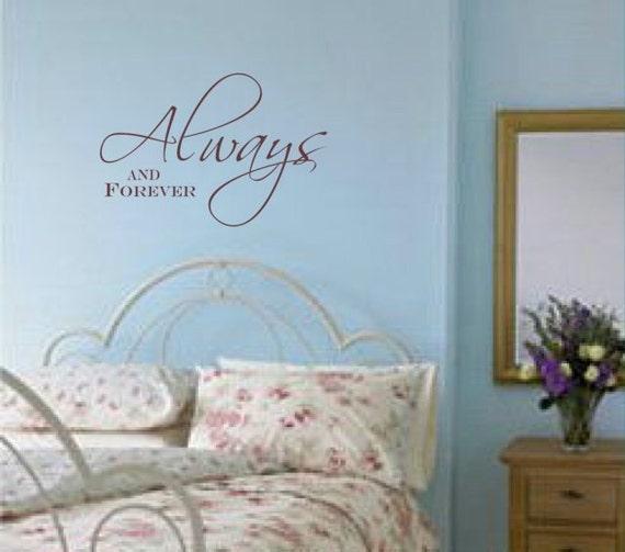 Immer und ewig Wand Aufkleber Schlafzimmer Wandtattoo Wand | Etsy