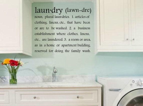 Laundry Room Wall Decals Laundry Room Wall Decor Laundry | Etsy