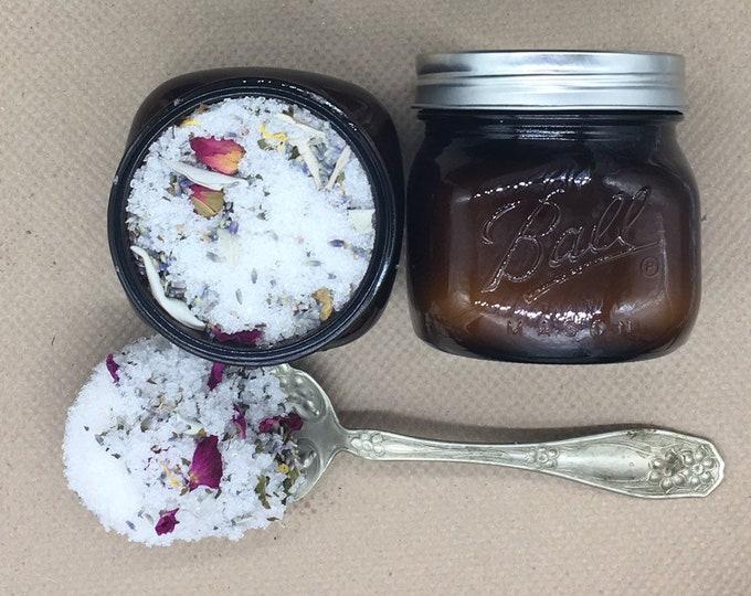 Mercury Retrograde, Milk Bath, centering Dead Sea Salt, fizzy, floral, goddess, bath salt, milk bath, witch, sage,  lavender, essential oil