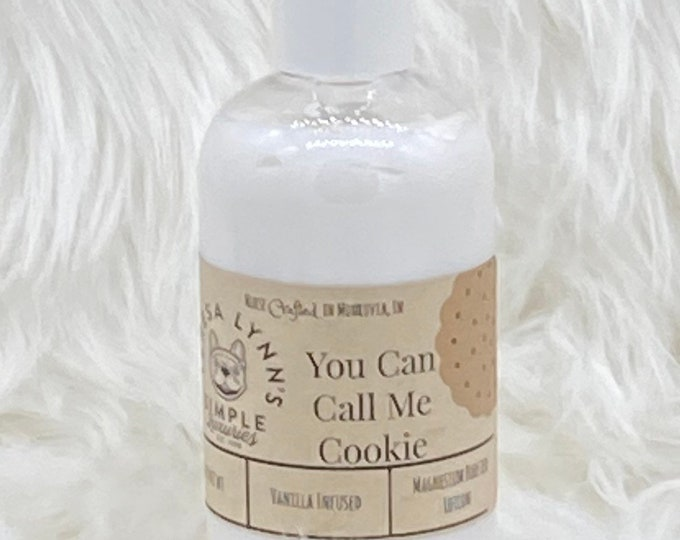 Cookie, Lotion, body cream, alcohol free, coconut oil, shea butter, luxury, skin care, natural, argan oil, gentle, paraben free, palm free