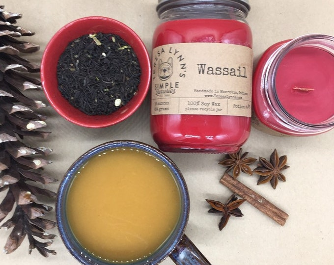 Wassail, wood wick, Wassail, Orange, Cranberry, Spice, soy candle, phthalate free, essential oil, farmhouse, winter candle