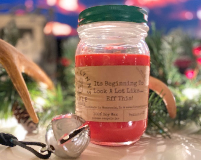 Eff This | Fruit Cake | wood wick candle | cherry | ginger | cake | fruit | soy candle | phthalate free | essential oil | farmhouse | funny
