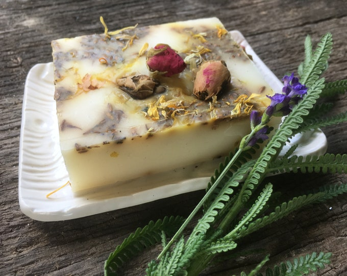 Lavender, Rosemary, Rose, Goats milk soap, Essential oil soap, hand poured soap, sleep soap, rosemary soap, calming soap, softening soap
