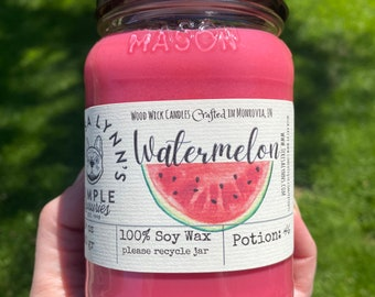Watermelon Candle Bachelorette Gift Inappropriate Candle Summer Candle Watermelon Scent Nice Melons Soy Candle Best Friend Gift