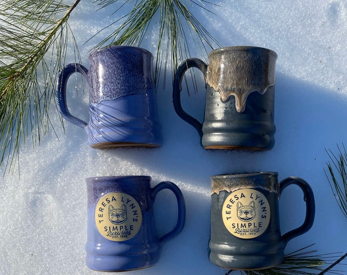 Deneen Pottery, Teresa Lynns Simple Luxury, Shop Mug, Handthrown pottery, coffee mug, Glazed mug, coffee, clay mug, american made