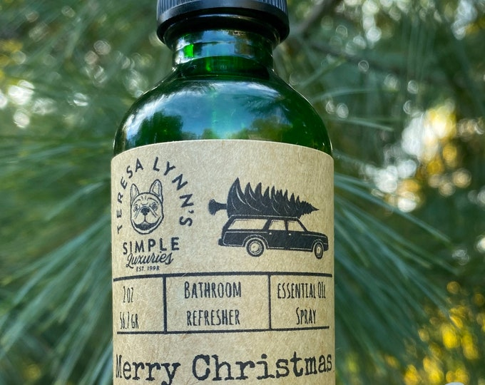 Merry Christmas Shitters Full, Peppermint, Essential Oils, Vanilla, Mint, Odor EliminatIng, Bathroom, Aloe Vera, Amethyst, Humor, Room Spray