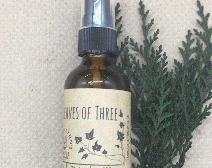 Leaves of Three, Poison ivy relief, skin care, itch relief, rash, essential oil, all natural, aloe, essential oil, chemical free