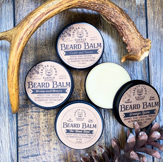 Beard Balm, handmade, beard care, beard balm, hemp oil, Shea butter, essential oil, Orange oil, beard groom, beeswax, Shea butter, mens skin