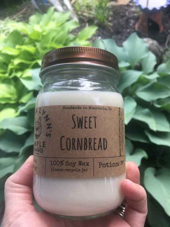 Sweet Cornbread, Soy, candle, woodwick Wood Wick, Corn Muffin, Phthalate free, farmhouse, kitchen candle, clean burn, southern, primitive