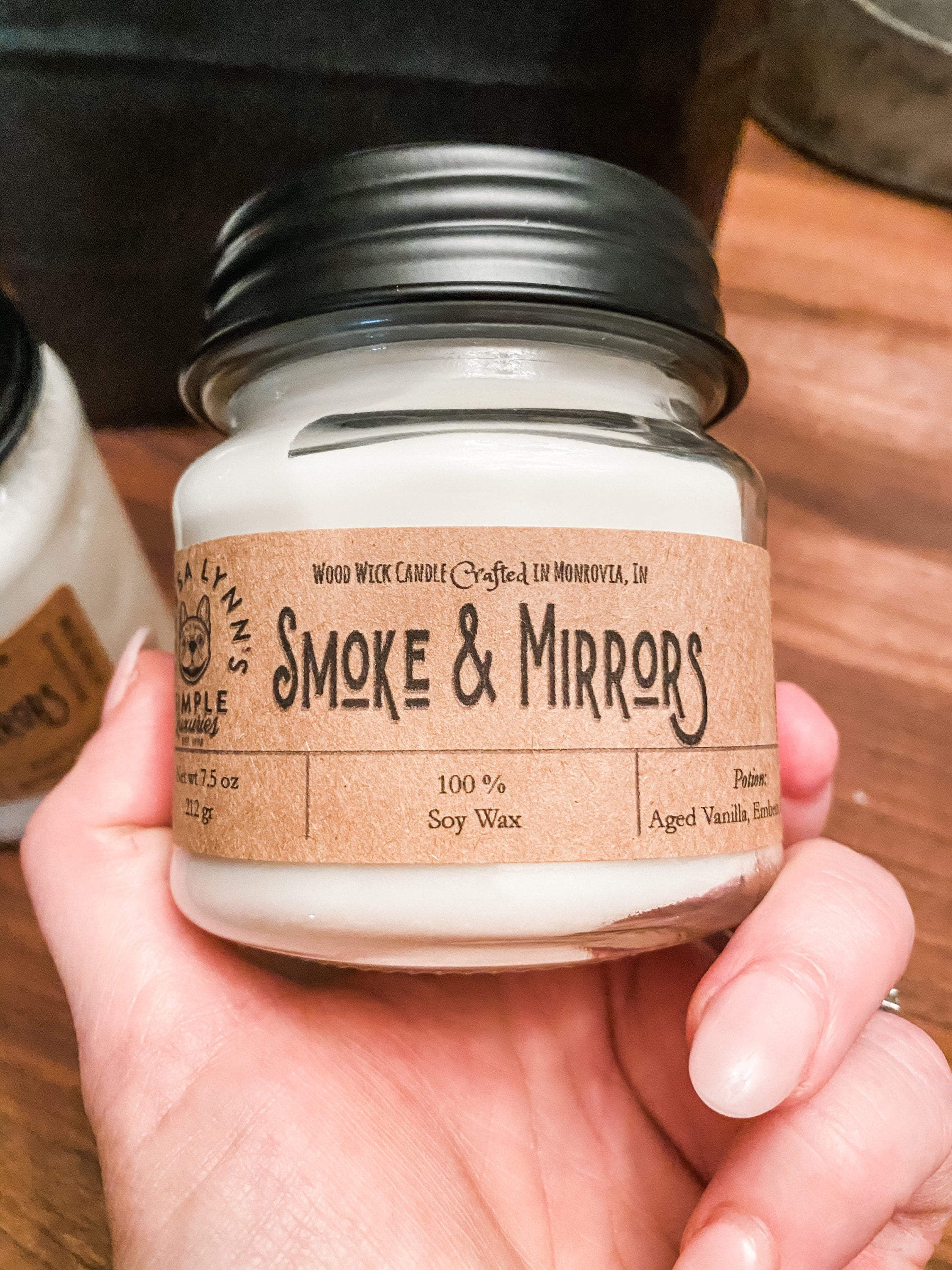 Soy Wax Candle Smoke and Mirrors