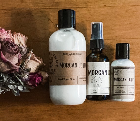Morgan le Fay, Lotion, Spray, Skin Care, fragrance, witchy, shea butter, organ oil, perfume, intention setting, cologne, aromatherapy