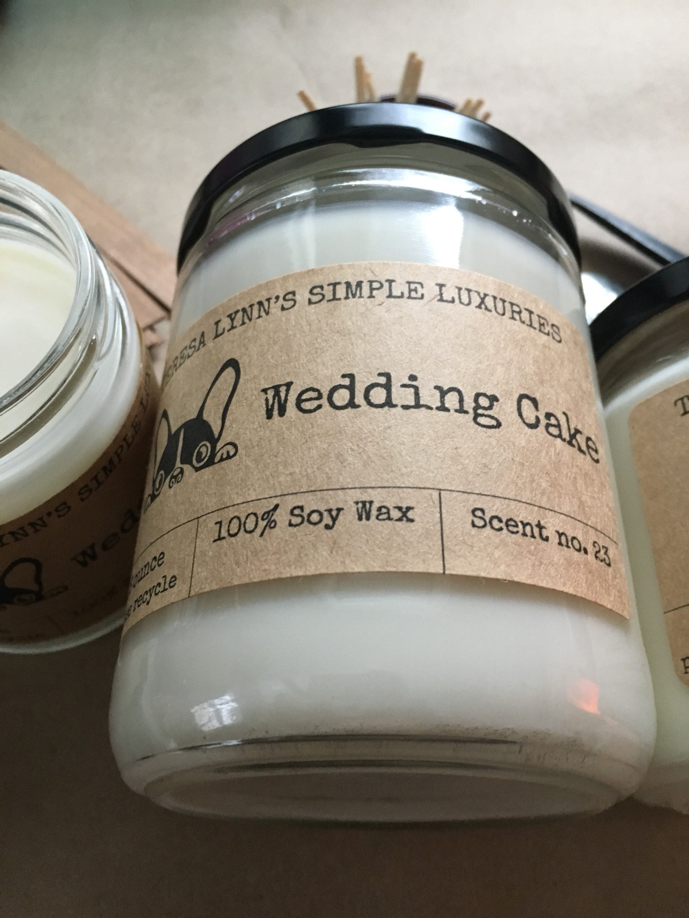wedding cake scented candles wedding cake scented candle wood wick candle soy 24032
