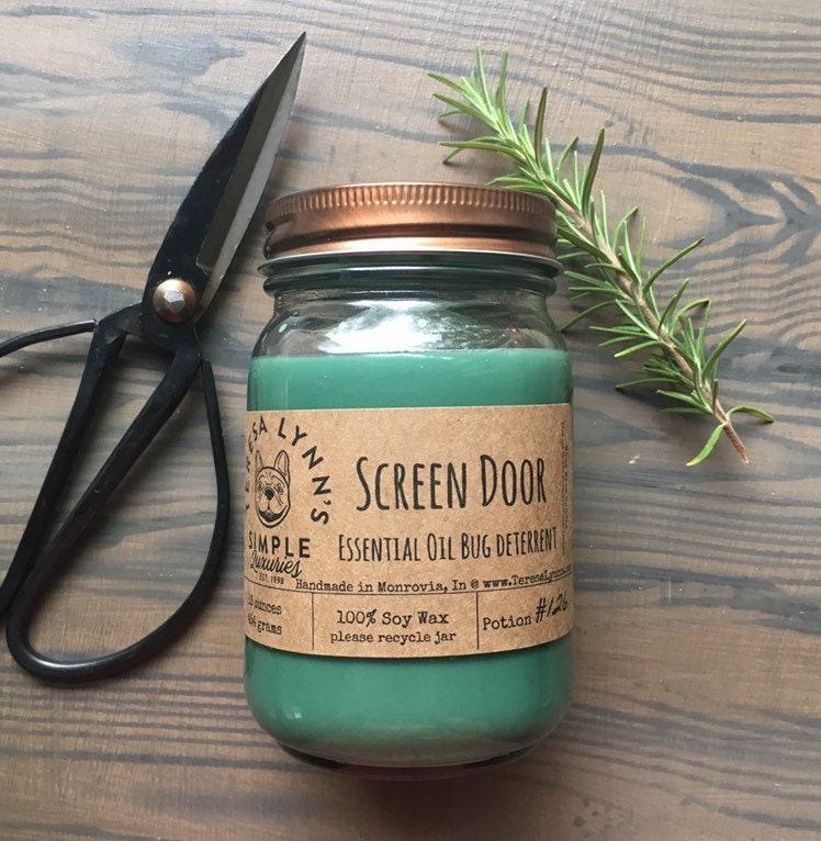 Screen Door Mosquito Repellent Pure Soy Essential Oil