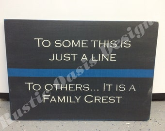 Lawn Enforcement Family Crest Sign  Law Enforcement   LEO Signs   Police Signs   Officer Signs   Deputy Signs   Thin Blue Line