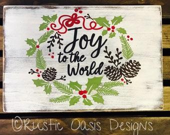 Joy To The World Sign | Christmas Sign | Christmas Decor | Wood Sign