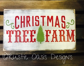 Christmas Tree Farm | Christmas Sign | Christmas Decor | Merry Christmas | Christmas Tree | Wood Sign